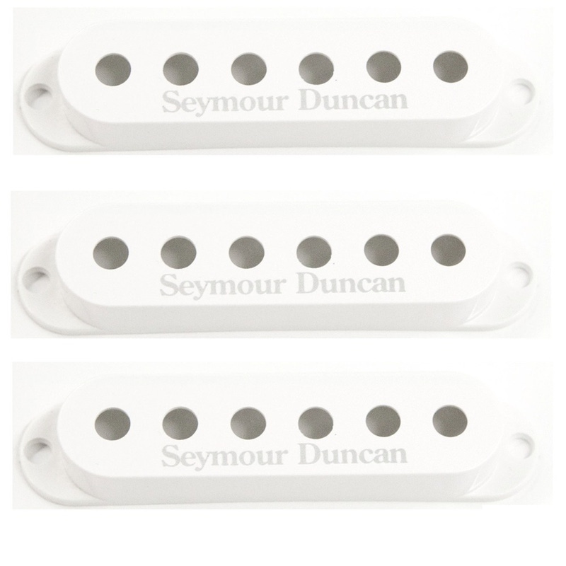 Seymour Duncan Strat Replacement Pickup Covers in White (Set of 3)
