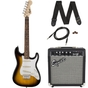 Squier Strat SS Beginner Electric Guitar Pack - Brown Sunburst