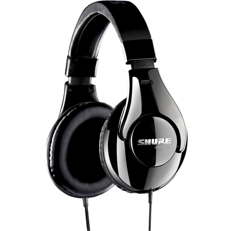 Shure SRH240A Closed-Back Circumaural Monitor Headphones