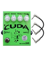 SIB Effects Cuda LT Tube Class A Overdrive Guitar Effects Pedal with Patch Cables