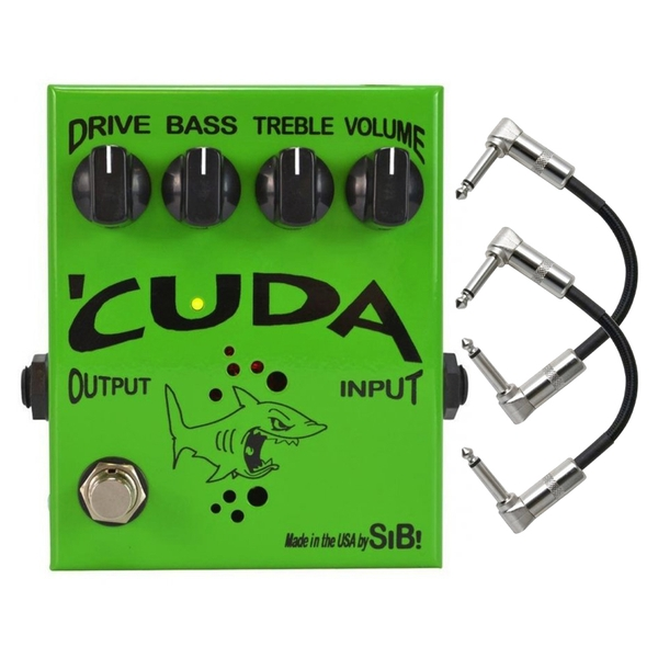 SIB Effects Cuda Tube Overdrive Distortion Guitar Effects Pedal with Patch Cables