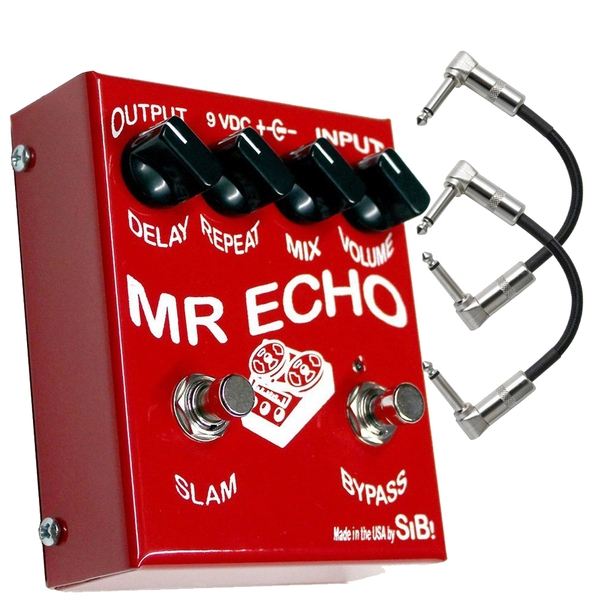 SIB Effects Mr Echo 550ms FET Driven Echo/Delay Guitar Effects Pedal with Patch Cables