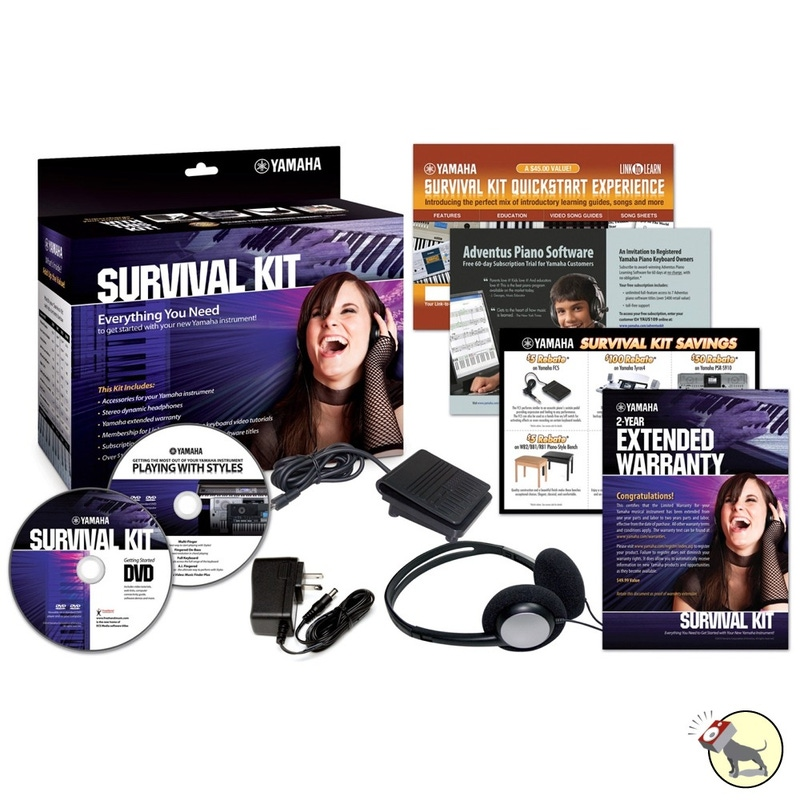 Yamaha Survival Accessory Kit SKB2 for Keyboard with Power Adapter Footswitch Headphones
