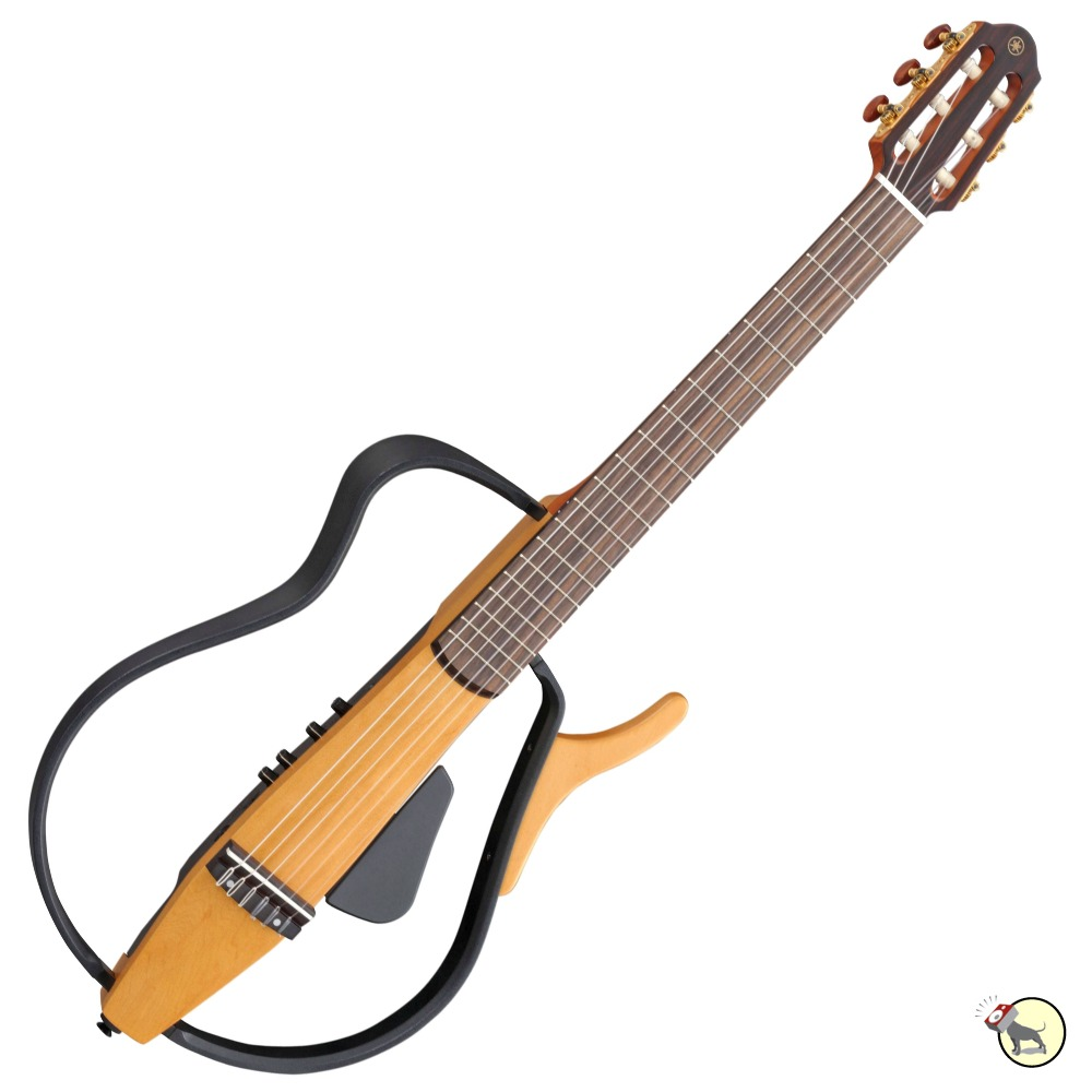 yamaha slg110n silent acoustic electric nylon string practice guitar natural ebay. Black Bedroom Furniture Sets. Home Design Ideas