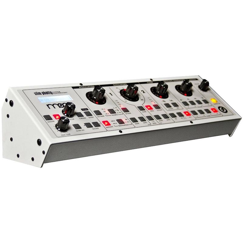 Moog Slim Phatty White Tabletop Rack Analog USB MIDI Control Voltage Synthesizer
