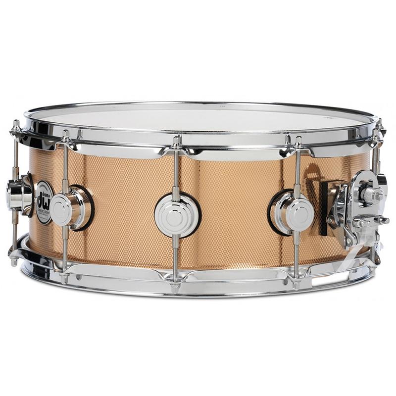 DW Drum Workshop DRVZ6514SKC Collector's Series Knurled Bronze Snare Drum, 6.5x14, Chrome Hardware