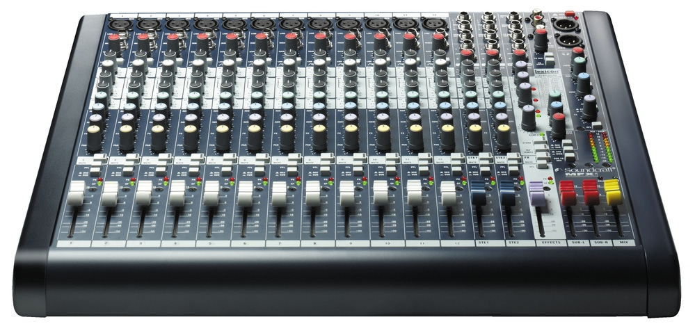 Soundcraft MFXi12 Mixer Console Live Audio Analog Professional 12 Channel