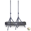 Stagg SPS10-ST BK Set of (2) Steel Speaker Stands with Nylon Carry Bag