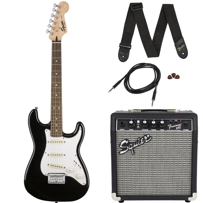 Squier Strat SSS Beginner Electric Guitar Pack - Black