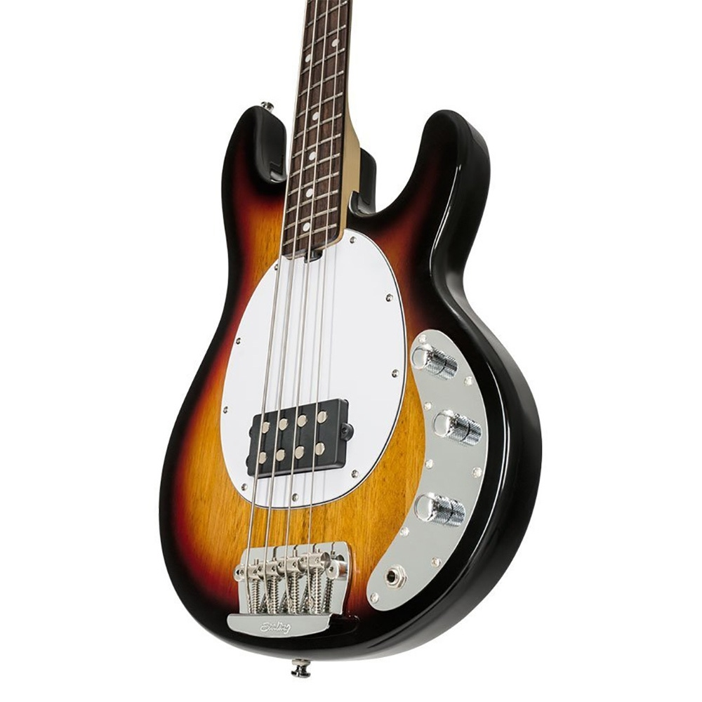 pitbull audio sterling by music man ray24ca 4 string electric bass 3 tone sunburst. Black Bedroom Furniture Sets. Home Design Ideas
