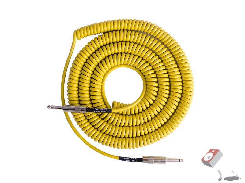 Lava LCSCLY Super Coil Straight-to-Same Guitar Bass Instrument Cable, 35 ft (Yellow)