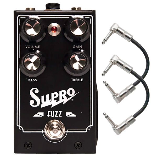 Supro Fuzz Guitar Effects Pedal with Patch Cables