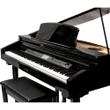 Suzuki MDG-300bl Micro Grand Digital Piano w/ Bench, Black Hi Gloss