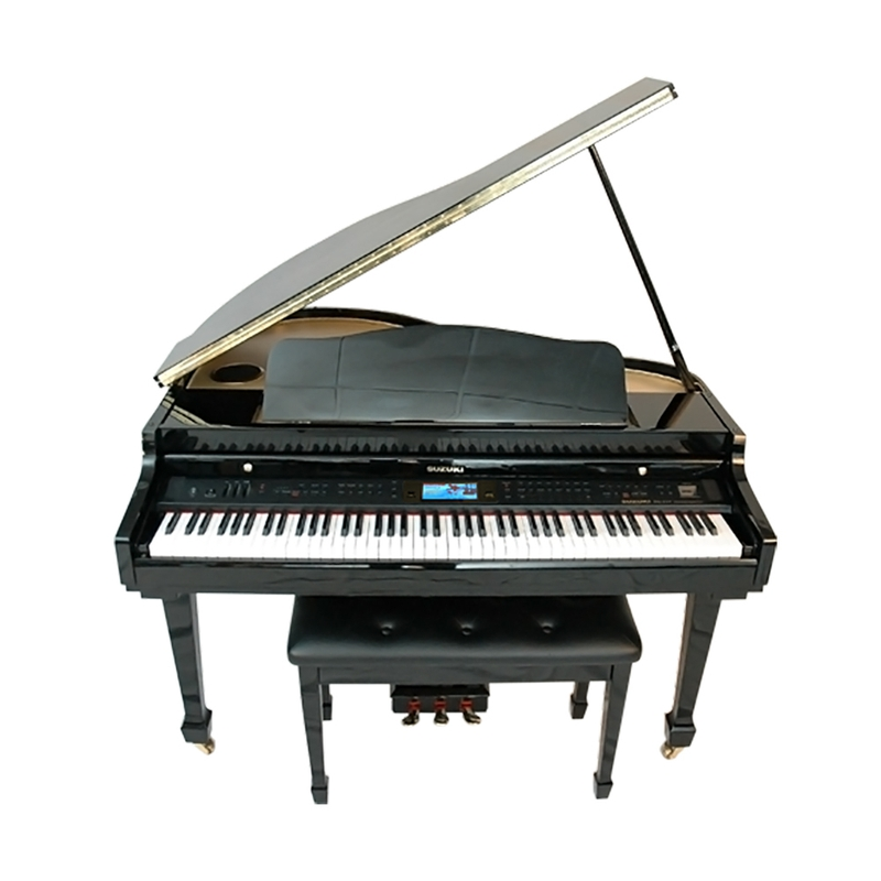 Suzuki MDG-400bl Baby Grand Digital Piano w/ Bench, Black Hi Gloss