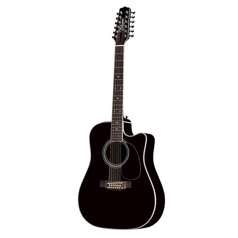 Takamine EF381SC 12-String Acoustic-Electric Guitar in Black with Hard Case (B-Stock)