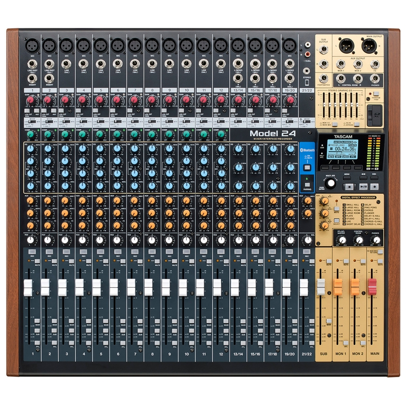 Tascam Model 24 24 Channel Multitrack Recorder and Analog Mixer (C-STOCK)