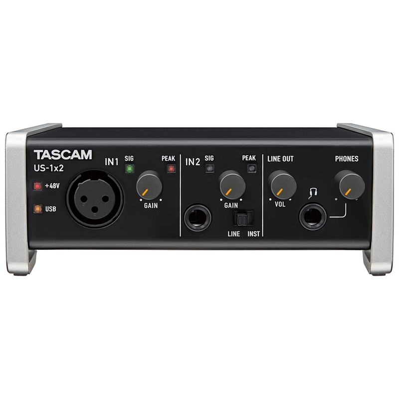 Tascam US-1x2 USB Audio Recording Interface with Steinberg Cubase LE Software