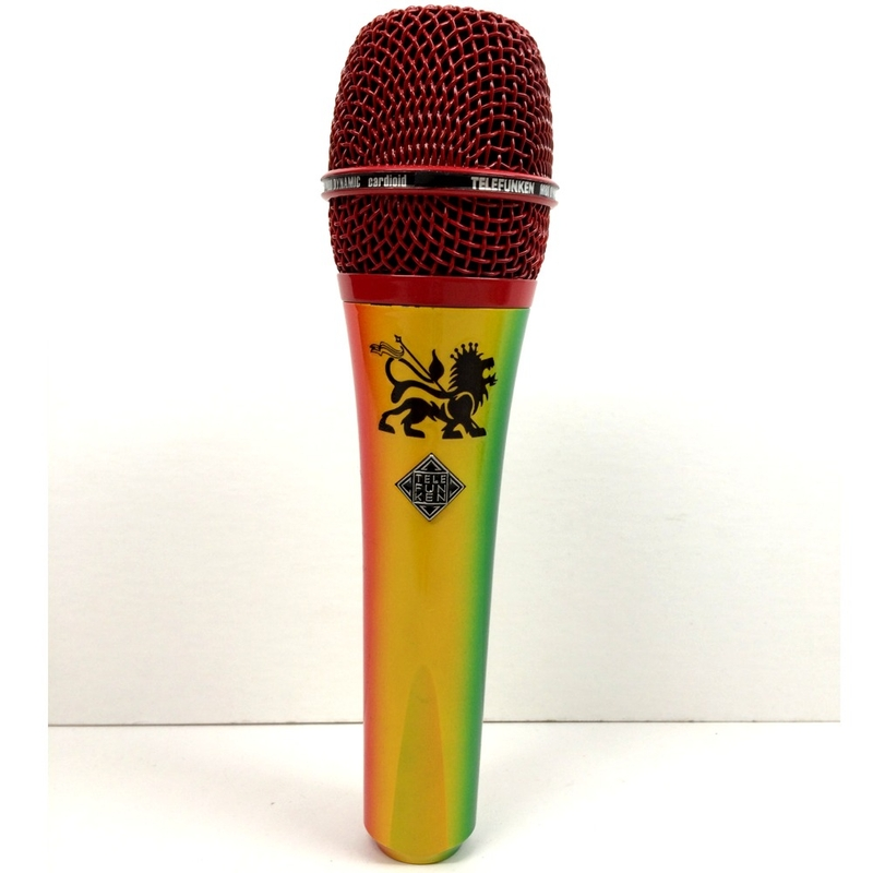 Telefunken M80 Custom Dynamic Microphone with Reggae Colored Body and Red Grille