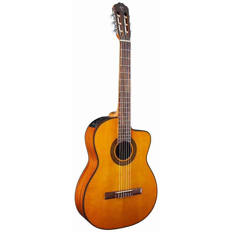 Takamine GC1CE Cutaway Nylon String Acoustic-Electric Guitar (Natural)