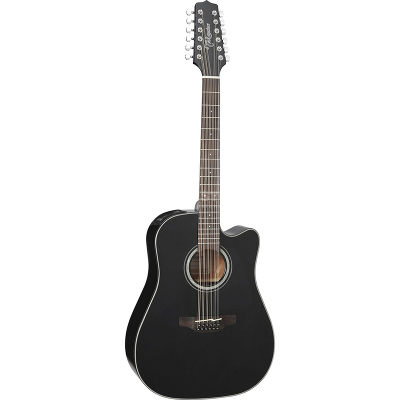 Takamine GD30CE-12 Dreadnought Cutaway 12-String Acoustic-Electric Guitar (Black)