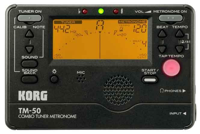 Korg TM-50 Combo Tuner Metronome Chromatic Black