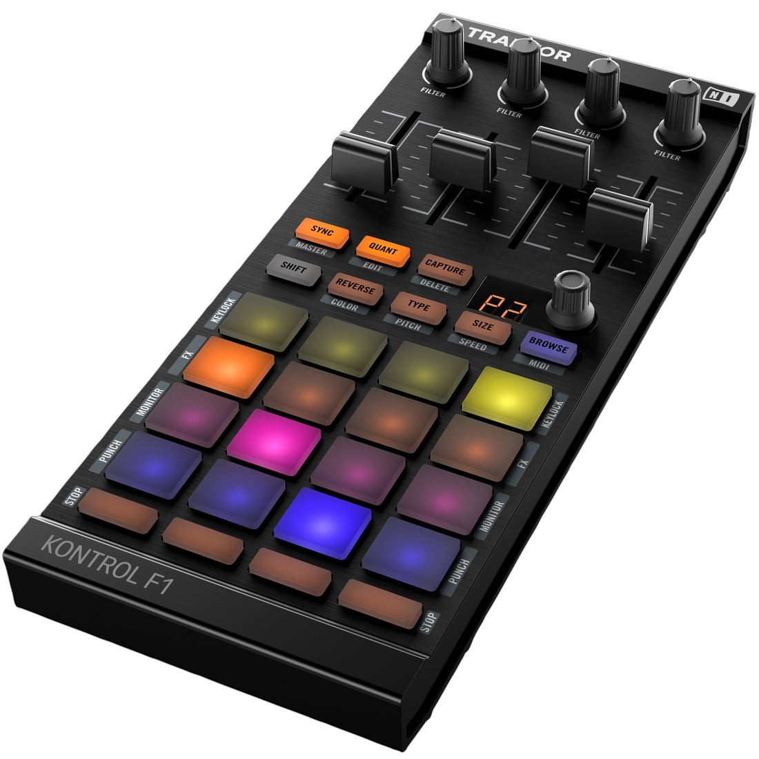 native instruments traktor kontrol f1 usb dj midi pad controller ebay. Black Bedroom Furniture Sets. Home Design Ideas