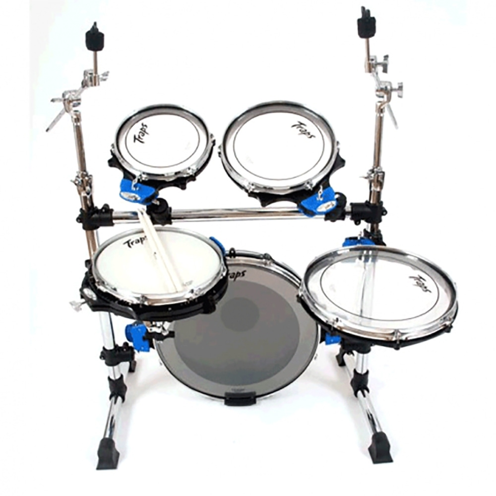 pitbull audio traps drums a400 5 piece portable acoustic drum set with hi hat stand and kick pedal. Black Bedroom Furniture Sets. Home Design Ideas