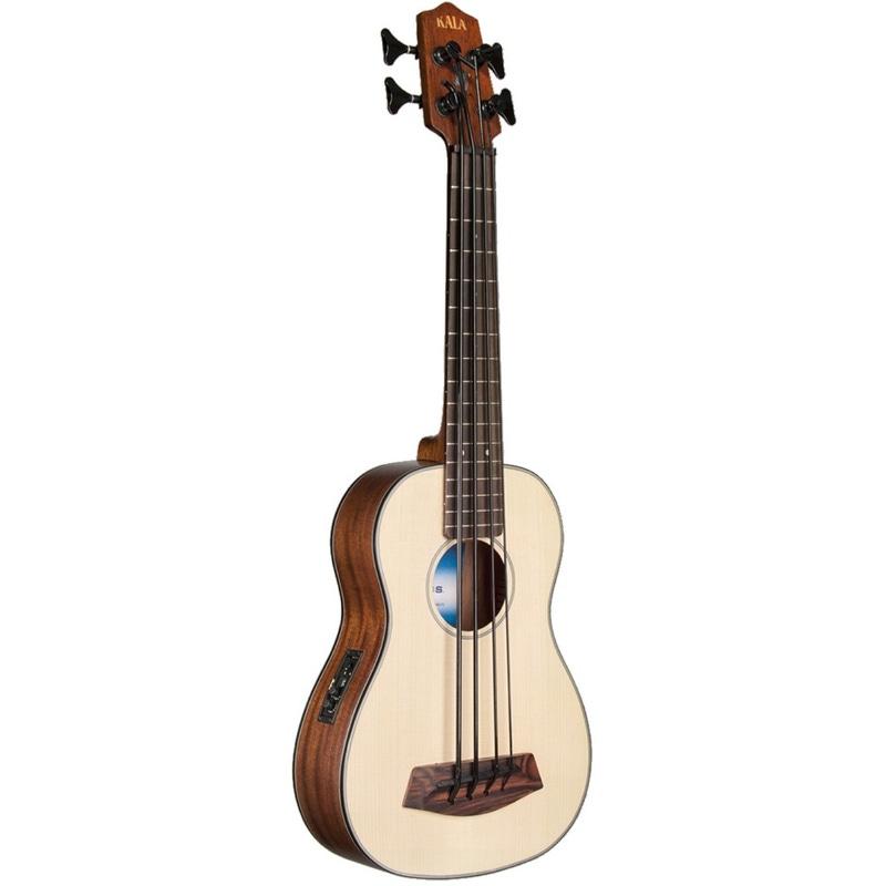 Kala UBASS Solid Spruce Top Mahognay SSMHG-FS Fretted Ukulele Bass