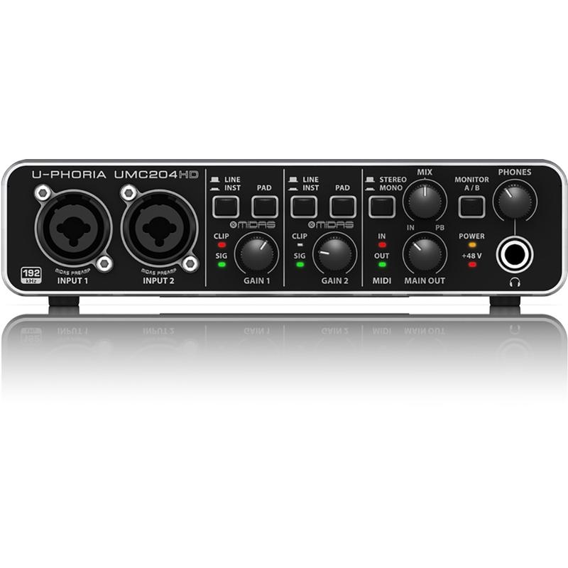 Behringer U-PHORIA UMC204HD USB 2.0 Audio Interface