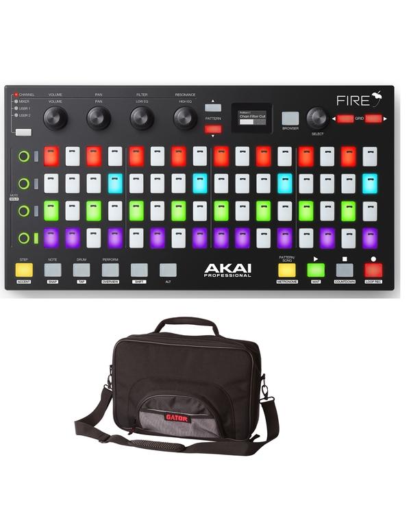 Akai Professional Fire FL Studio Controller & Gator Road Bag Bundle
