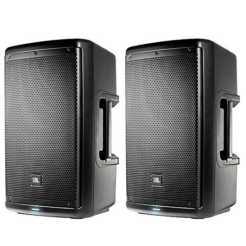 """JBL EON610 10"""" 2-Way Self-Powered 1000w 2-Way Active Speaker PAIR"""