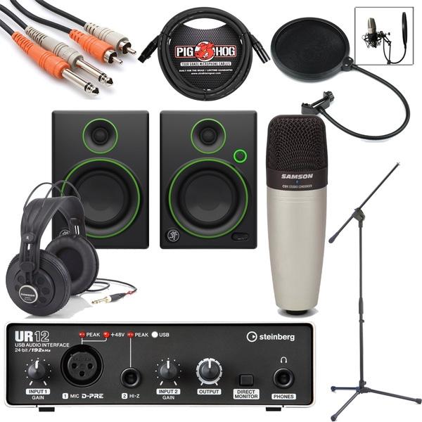 Steinberg UR12 Interface w/ Mackie CR4 Monitors Home Recording Bundle Studio