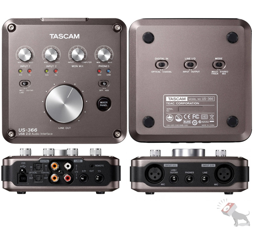 Tascam US-366 USB 2.0 Audio Interface with Cubase LE
