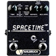 Vahlbruch SpaceTime Black Delay / Echo Guitar Effects Pedal w/ Tap Tempo, Black Knobs