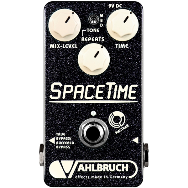 Vahlbruch SpaceTime Delay / Echo Guitar Effects Pedal w/ Switchable Bypass