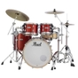 Pearl Drums MCT924XEDP/C Masters Maple Complete 4pc Drum Kit Shell Pack, #346 Vermillion Sparkle