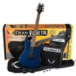 Dean Guitars VNXMT MBL PK Solid Body Electric Guitar Pack in Metallic Blue (Includes Amp, Tuner, & More)