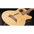 Warwick RockBass Alien Deluxe Hybrid Thinline 4-String Acoustic Electric Bass, Natural Transparent Satin