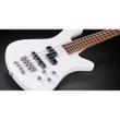 Warwick Rockbass Streamer LX 4-String Bass Guitar, Solid White High Polish