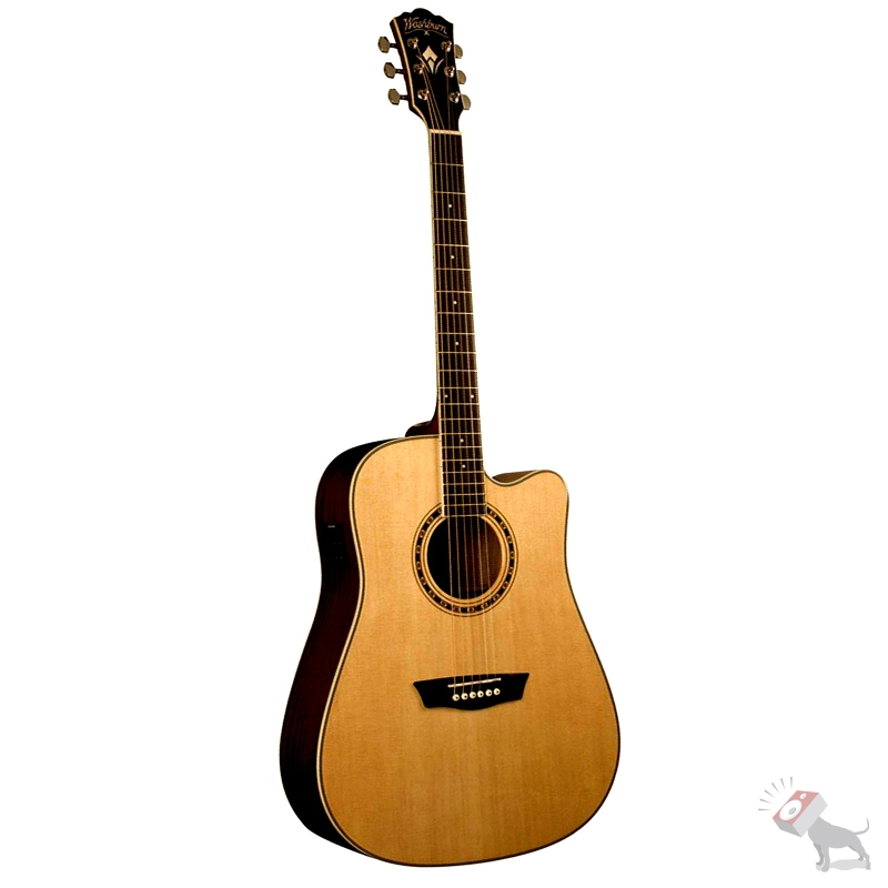Washburn WD10CE Woodline Series Acoustic Electric Guitar