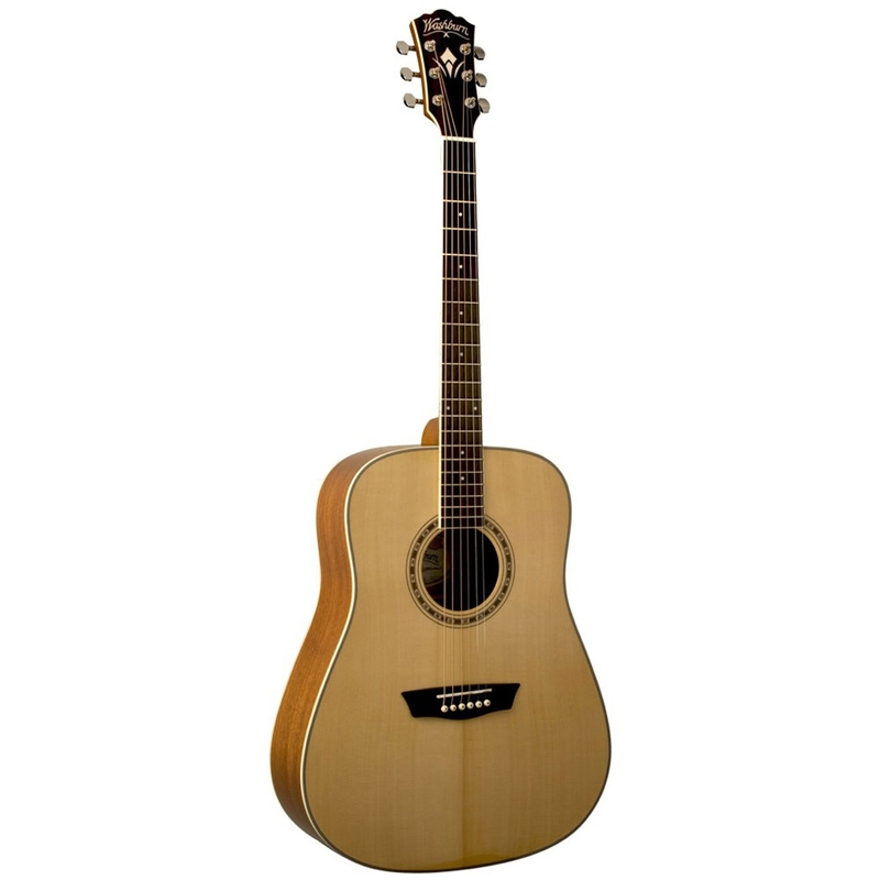 Washburn WD10S Woodline Series Dreadnought Acoustic Guitar