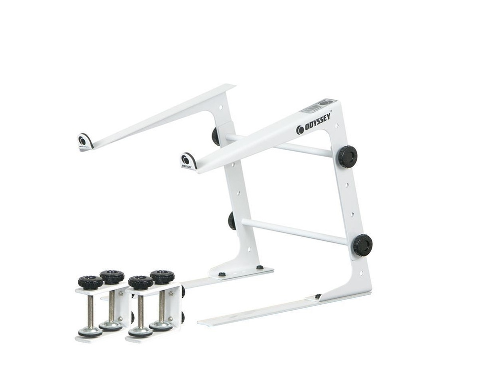 Odyssey LSTAND DJ Laptop Stand with Clamps - White