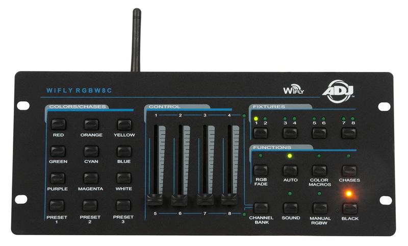 American DJ WiFly RGBW8C DMX 64 Channel Wireless Controller ADJ