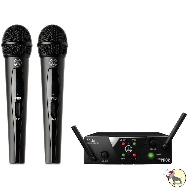 AKG WMS 40 Mini2 Dual Vocal Wireless Microphone System (Band A/C)