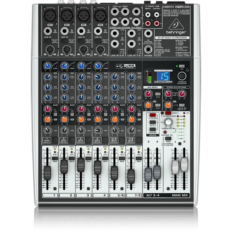 Behringer Xenyx X1204USB 12-Input 2/2-Bus Mixer USB/Audio Interface