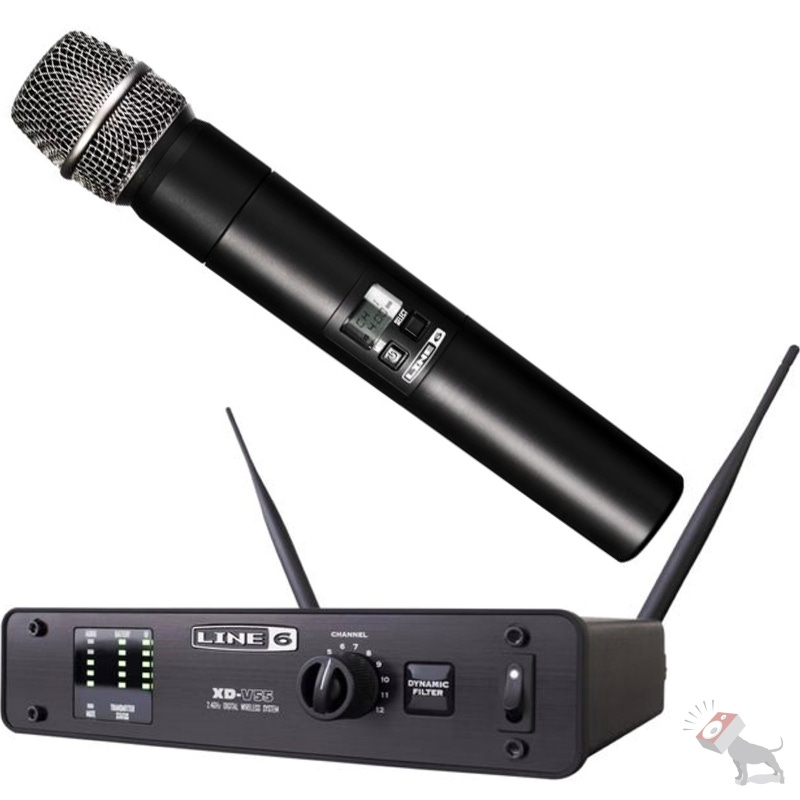 Line 6 XD-V55 Digital Handheld 12-Ch Wireless Microphone System
