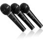 Behringer XM1800S Dynamic Handheld Microphone (3-Pack)