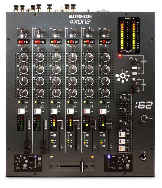 Allen & Heath XONE:62 Professional 6-Channel DJ Mixer