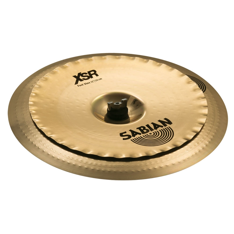 """Sabian XSRFSXB XSR Series Fast Stax Effects Cymbal - 13"""" X-Celerator over 16"""" China"""