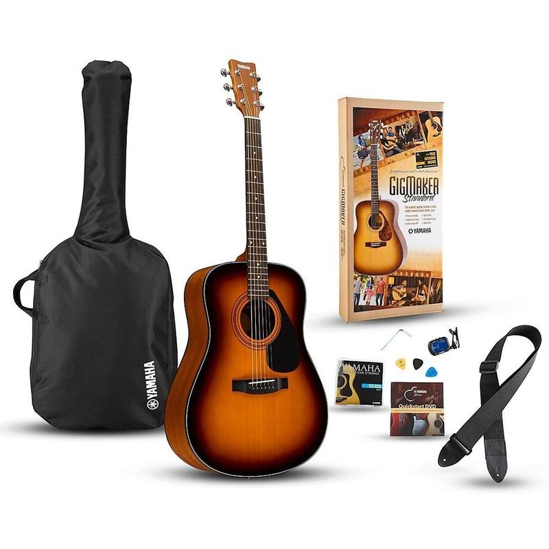 Yamaha Gigmaker Standard Acoustic Guitar Starter Pack - Tobacco Brown Sunburst